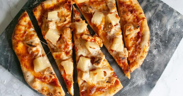 How to make a kid-friendly Homemade Chicken Pineapple Pizza
