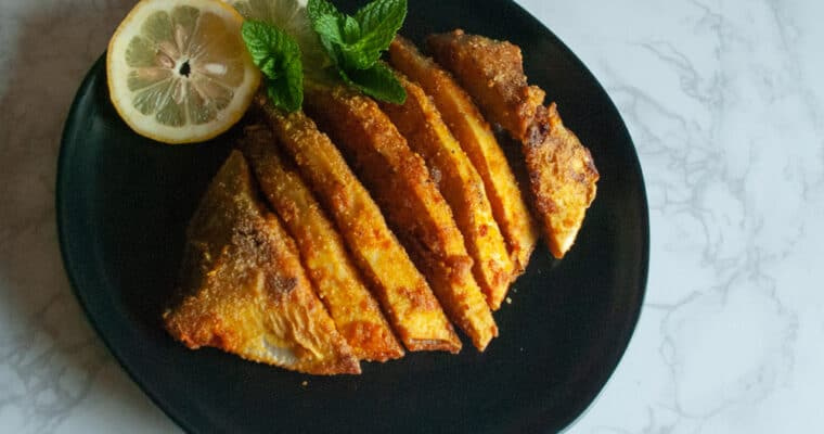 How to make Goan/Konkani-style pan-fried pomfret | easy shallow-fried fish recipe