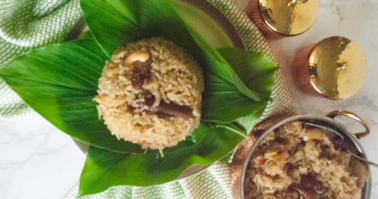 Narali bhat recipe | Sweet coconut rice