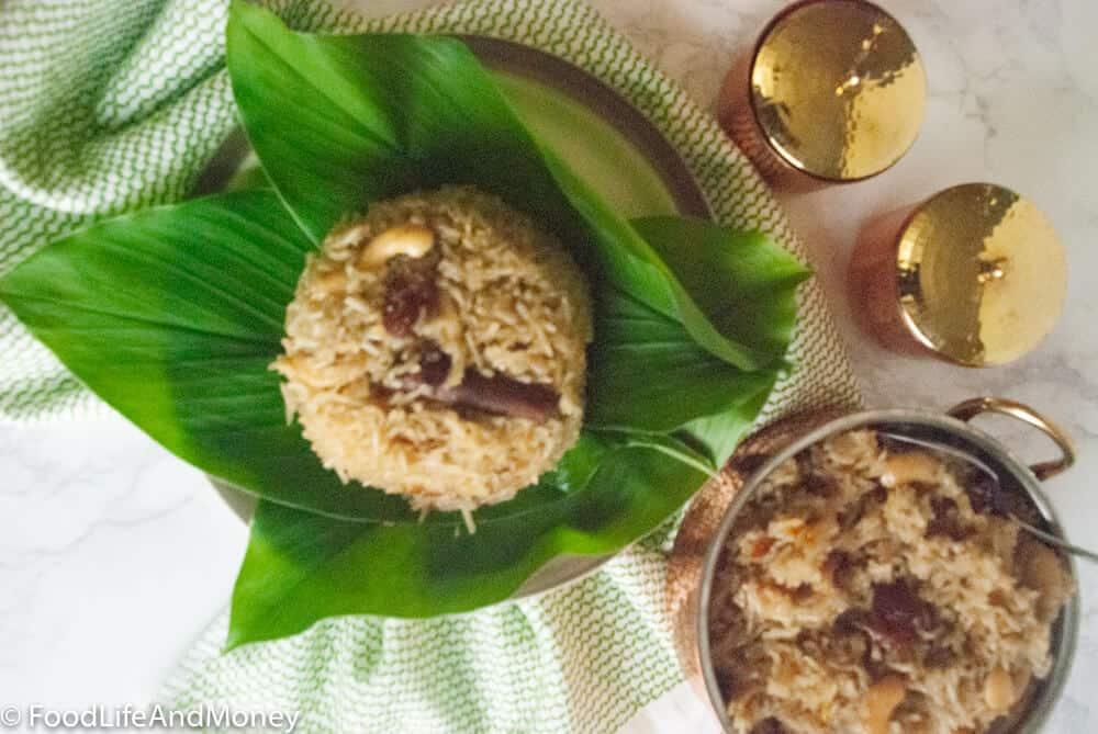 Narali bhat recipe | Sweet coconut rice